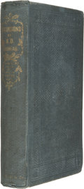 Books:First Editions, Henry D. Thoreau. Excursions. Boston: Ticknor and Fields,1863....