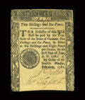 Colonial Notes:Vermont, Vermont February 1781 2s6d Very Fine-Extremely Fine....