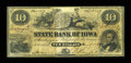 Obsoletes By State:Iowa, Dubuque, IA- State Bank of Iowa $10 Jan. 1, 1864 G98 Oakes 60-5....