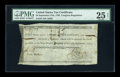 Colonial Notes:Continental Congress Issues, Continental Currency Indent September 27 1785 $4 PMG Very Fine 25Net....