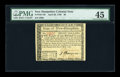 Colonial Notes:New Hampshire, New Hampshire April 29, 1780 $8 PMG Choice Extremely Fine 45....