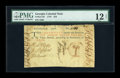 Colonial Notes:Georgia, Georgia 1776 $10 PMG Fine 12 NET....