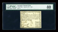 Colonial Notes:Georgia, Georgia June 8, 1777 $4/5 PMG Extremely Fine 40....