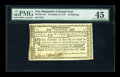 Colonial Notes:New Hampshire, New Hampshire November 3, 1775 40s PMG Choice Extremely Fine 45....
