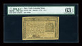 Colonial Notes:New York, New York March 5, 1776 $1/3 PMG Choice Uncirculated 63 EPQ....