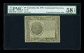 Colonial Notes:Continental Congress Issues, Continental Currency September 26, 1778 $7 Counterfeit Detector PMG Choice About Unc 58 EPQ....