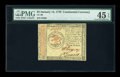 Colonial Notes:Continental Congress Issues, Continental Currency January 14, 1779 $3 PMG Choice Extremely Fine45 EPQ....