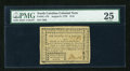 Colonial Notes:North Carolina, North Carolina August 8, 1778 $1/8 PMG Very Fine 25....