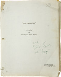 Teri Garr's Young Frankenstein Annotated Original Script