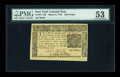 Colonial Notes:New York, New York March 5, 1776 $1/2 PMG About Uncirculated 53....