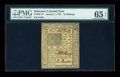 Colonial Notes:Delaware, Delaware January 1, 1776 10s PMG Gem Uncirculated 65 EPQ....