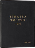 "Movie/TV Memorabilia:Memorabilia, Jilly Rizzo's Personal Copy of Sinatra: ""Fall Tour"" 1976Concert Itinerary...."