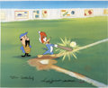 "Baseball Collectibles:Others, ""Woody Gets a Hit"" Limited Edition Hand Painted Cel (Walter LantzProductions, 1992). ..."