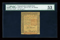 Colonial Notes:Pennsylvania, Pennsylvania April 10, 1775 50s PMG About Uncirculated 53....