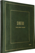Movie/TV Memorabilia:Memorabilia, Jilly Rizzo's Personal Bound Copy of Sinatra: The Main EventTour Itinerary. ...