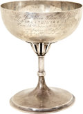Movie/TV Memorabilia:Memorabilia, Mr. and Mrs. William A. Brady 1910 Engraved Sterling Silver Chalicefrom A Woman's Way Company....
