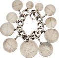 Movie/TV Memorabilia:Memorabilia, Alice Brady Charm Bracelet with Attached Coins Engraved with 10Film Titles....