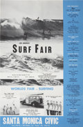 Music Memorabilia:Posters, Beach Boys Los Angeles Surf Fair Concert/Event Poster (1962)....