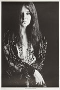"Music Memorabilia:Posters, Janis Joplin Original Black And White Poster 23"" x 34.5 (1967). ..."