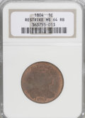 Large Cents, 1804 1C Restrike MS64 Brown NGC....