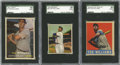 Baseball Cards:Lots, 1948-57 Ted Williams SGC 50 VG/EX 4 Group Lot of 3.... (Total: 3cards)