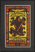 Music Memorabilia:Posters, It's A Beautiful Day/ Indian Pudding and Pipe San Francisco SoundBallroom Seattle New Years Concert Poster (1969)...
