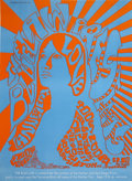 Music Memorabilia:Posters, Love/Canned Heat/Hour Glass Blue Law San Diego Concert Poster(1967)....