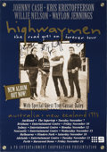 Music Memorabilia:Autographs and Signed Items, Highwaymen Autographed Concert Poster....