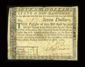 Colonial Notes:New Hampshire, New Hampshire April 29, 1780 $7 Fine-Very Fine....