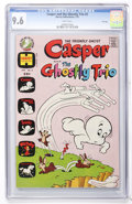 Bronze Age (1970-1979):Cartoon Character, Casper and the Ghostly Trio #2 File Copy (Harvey, 1973) CGC NM+ 9.6White pages....