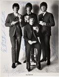 Music Memorabilia:Autographs and Signed Items, Beatles Signed Photo Autographed for George Klein....