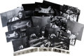 Music Memorabilia:Photos, Buddy Holly Set of Rare Backstage Photos with Negatives, 1958....(Total: 24 Items)