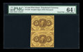 Fractional Currency:First Issue, Fr. 1230 5c First Issue Vertical Pair PMG Choice Uncirculated 64EPQ....
