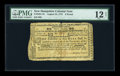 Colonial Notes:New Hampshire, New Hampshire August 24, 1775 £3 PMG Fine 12 NET....