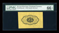 Fractional Currency:First Issue, Fr. 1282SP 25c First Issue Wide Margin Back PMG Gem Uncirculated 66EPQ....