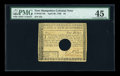 Colonial Notes:New Hampshire, New Hampshire April 29, 1780 $4 PMG Choice Extremely Fine 45.POC....