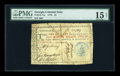 Colonial Notes:Georgia, Georgia 1776 $1 PMG Choice Fine 15 Net. ...