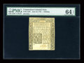 Colonial Notes:Connecticut, Connecticut June 19, 1776 1s PMG Choice Uncirculated 64 EPQ....