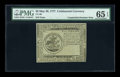 Colonial Notes:Continental Congress Issues, Continental Currency May 20, 1777 $5 Blue Detector PMG Gem Uncirculated 65 EPQ....