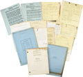 Movie/TV Memorabilia:Documents, Billy Wilder The Emperor Waltz Production Archive (1946)....(Total: 7 Items)