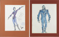 Movie/TV Memorabilia:Original Art, Al Lehman Buck Rogers Design Sketches (c. 1980), Set of2.... (Total: 2 Items)