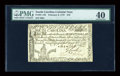 Colonial Notes:South Carolina, South Carolina February 8, 1779 $70 PMG Extremely Fine 40....