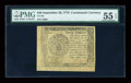 Colonial Notes:Continental Congress Issues, Continental Currency September 26, 1778 $40 PMG About Uncirculated 55 EPQ....