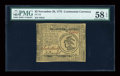 Continental Currency November 29, 1775 $3 PMG Choice About Unc 58 EPQ