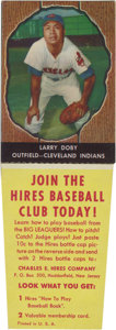 Baseball Cards:Singles (1950-1959), 1958 Hires Root Beer Larry Doby #17. Difficult to find intact, this Larry Doby card originally offered as a premium to promo...