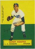Baseball Cards:Singles (1960-1969), 1964 Topps Stand-Ups Sandy Koufax . First die-cut cards producedsince the All-Star sets of 1951, this one features the grea...