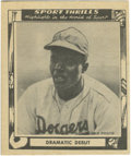Baseball Cards:Singles (1940-1949), 1948 Swell Sport Thrills Dramatic Debut #3 Jackie Robinson. Perfect card to commemorate the recent 60th Anniversary of the l...