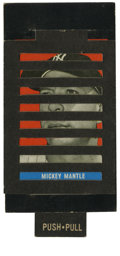 Baseball Cards:Singles (1960-1969), 1965 Topps Push-Pull Yogi Berra/Mickey Mantle #6. Here we offer anexceptional rarity from a 36-card set that Topps release...