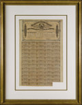 Confederate Notes:Group Lots, Ball 323 $1000 Confederate Bond. The vignette is of the Confederateseal, with 59 of 60 coupons remained attached to the bon...