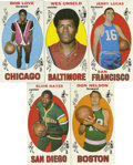 Basketball Cards:Lots, 1969-70 Topps Basketball Group Lot of 8. Nice group from the returnof Topps to the basketball card market in 1969. Include...